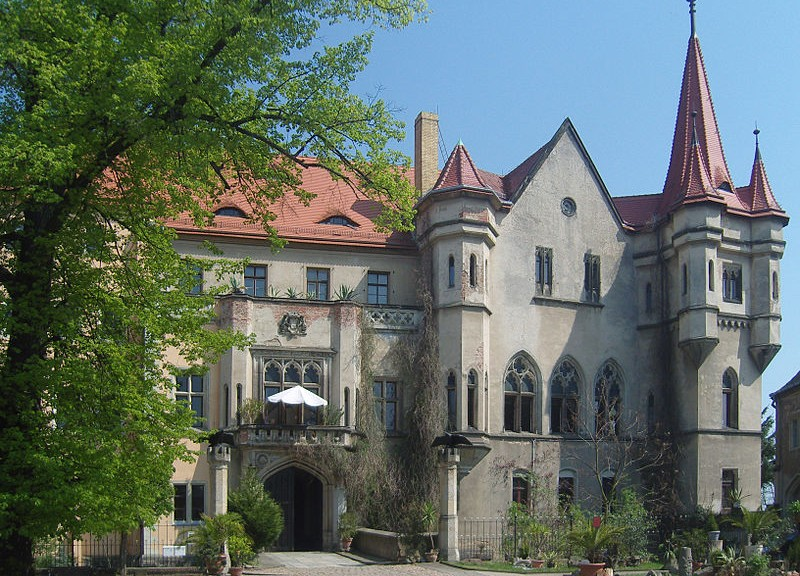 """Die """"artour"""" besuchte auch Schloss Püchau bei Leipzig / Foto: Wikipedia / Z thomas / CC BY 3.0 DE"""