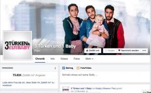 """Facebookseite des Films """"3 Türken und ein Baby"""": Bald 75.000 Likes / Bild: Screenshot"""