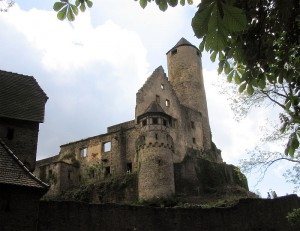 Burg Hornberg: Die Obere Burg / Foto: AlterVista / CC-BY-SA 2.0