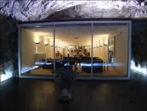 Das La-Claustra-Restaurant im Bunkerkomplex San Carlo / Bild: Screenshot Youtube