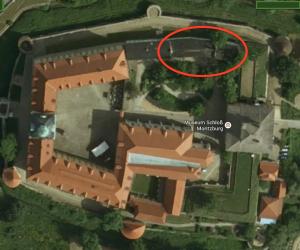 Schloss Moritzburg: Die Lage des Marstalls, der abgerissen wird / Bild: Google Maps