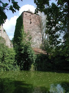 Der Bergfried der Wasserburg Burgsinn im Mainfranken / Foto: Willy Horsch / CC-BY-SA 2.5