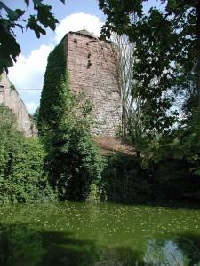 Der Bergfried der Wasserburg Burgsinn im Mainfranken / Foto: Willy Horsch / CC-BY-SA 2.5