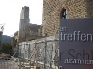 Das Hambacher Schloss während der Bauarbeiten / Foto: Burgerbe.de