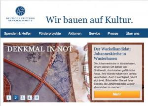 Die Deutsche Stiftung Denkmalschutz fördert die Dach- und Gassadensanierung von Schloss Schackau / Bild: Screenshot
