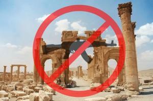 """Eine an die UN gerichtete Online-Petition fordert das Verbot des Handels mit syrischen Artefakten / Foto: Aktion """"Stop turning history into guns"""""""
