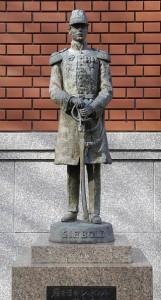 Schneidig: Denkmal für den jungen Grafen Siebold in Nagasaki / Foto: Public Domain