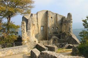 Die Ruine von Burg Canossa am Rand des Appenin / Fotos: Burgerbe.de