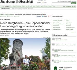Burg Henneberg hat neue Besitzer / Screenshot Hamburger Abendblatt