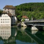 Burg Rotwasserstelz und die Rheinbrücke