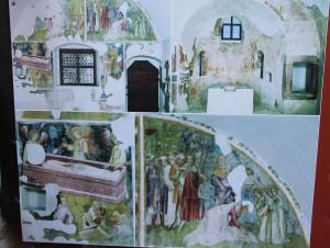 Religiöse Fresken in der Kapelle von Runkelstein (abfotografiert von der Infotafel)