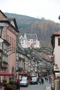 Blick von der Miltenberger Altstadt auf die Mildenburg / Foto: Burgerbe.de