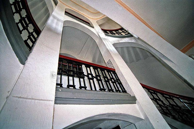 Ansehnlich: Das Treppenhaus von Schloss Mutzschen / Foto: Wikipedia / Stephan Klop / CC-BY-SA 3.0