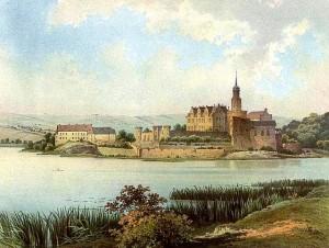 Schloss Seeburg um 1860 (Sammlung Alexander Juncker) / gemeinfrei
