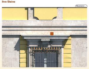 Berliner Schloss-Fassade: Der Stein könnte Ihrer sein / Bild: Screenshot