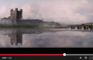 """Bei Game of Thrones gibt's reichlich Burgen. Diese ist ein Teil der """"Zwillinge"""", die eine wichtige Brücke bewachen / Bild: Screenshot"""