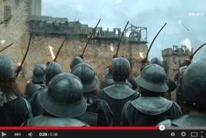 """""""Götz von Berlichingen""""-Filmszene: Die Belagerungsarmee des Bischofs von Bamberg / Bild: Screenshot Youtube"""