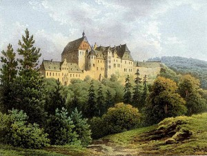 Schloss Beichlingen um 1860 / Bild: gemeinfrei / Sammlung Duncker