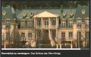 Auch das Bayerische Fernsehen berichtet über die Schloss-Versteigerung / Bild: Screenshot