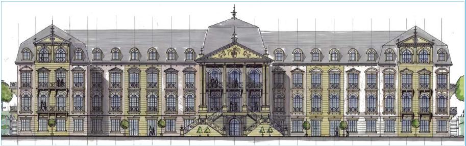 Neues Schloss Dietz: So soll das Schloss aussehen / Skizze: WFG Weilburg Dietz