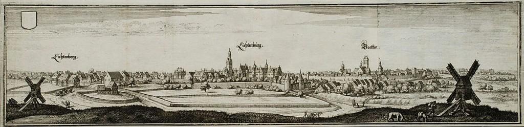Schloss Lichtenburg auf einem Merian-Stich von 1650 / Bild: gemeinfrei