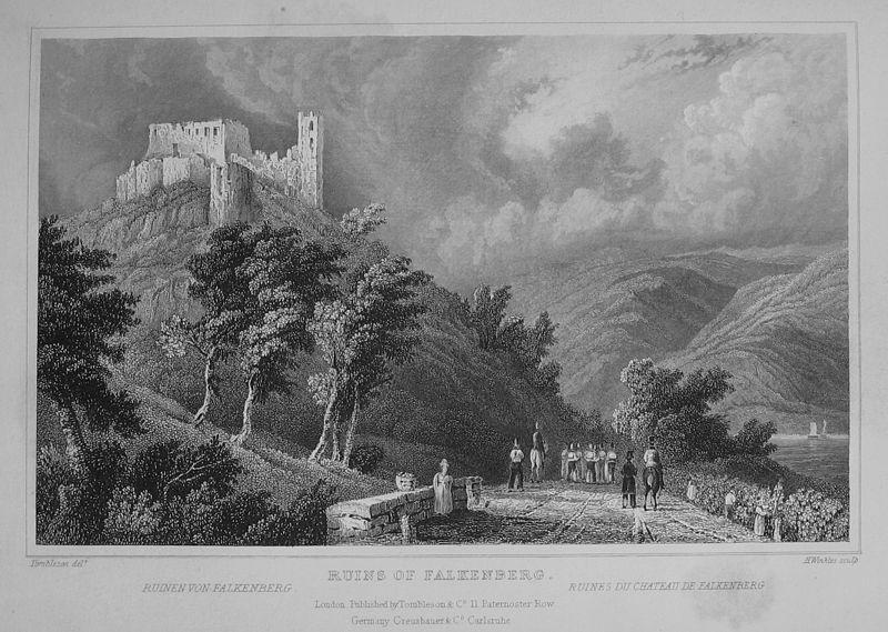 So sah die Ruine Falkenberg 1831 aus / Foto: gemeinfrei / Foto oben: Foto: Wikipedia/Urmelbeauftragter Lizenz: CC-BY-SA-3.0,2.5,2.0,1.0