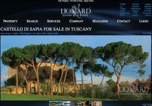 Das Castello di Sapia steht für 2,5 Millionen zum Verkauf / Bild: Screenshot
