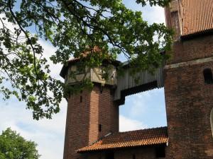 Marienburg: Hölzerner Wehrgang
