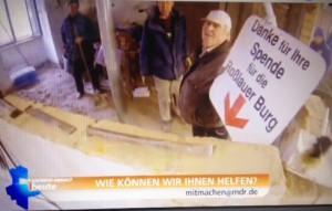Der MDR filmte die Helfer vom Förderverein bei der Renovierung / Bild: Screenshot
