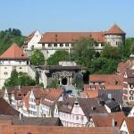 Elefant Molly vor Schloss Hohentübingen begraben