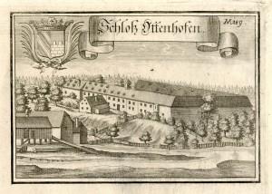 Schloss Ottenhofen um 1720 / gemeinfrei