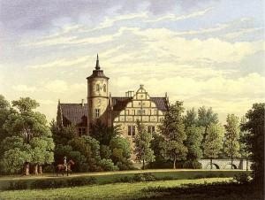 Schloss Ulenburg im 19. Jahrhundert, noch vor der Aufstockung des Turms / Foto: Sammlung Duncker / gemeinfrei