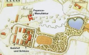 Schloss und Park Wrisbergholzen um 1815 / gemeinfrei