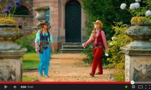 """Für """"Bibi und Tina - voll verhext"""" wurde wieder auf Schloss Vitzenburg gedreht. / Bild: Screenshot Youtube"""