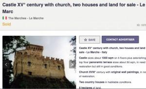 Auch dieses Schloss in den Marken stand zum Verkauf / Bild: Screenshot