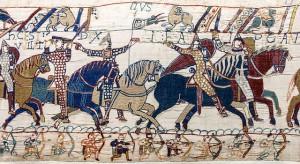 Die normannischen Eroberer (auf dem Teppich von Bayeux) / gemeinfrei
