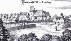 Burg Neuhaus im Jahr 1654 / Bild: gemeinfrei