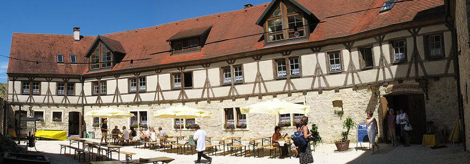 Der Innenhof von Burg Katzenstein / Foto: Wikipedia / Wiki der Wikinger / CC-BY-SA 3.0