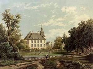 Schloss Gartrop um 1857 / Foto: Sammlung Duncker, gemeinfrei