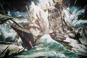 Das Wrack der Girona. Die Galeone sank vor der irischen Küste bei Antrim / Bild: Wikipedia / Nofly / CC-BY-SA 3.0