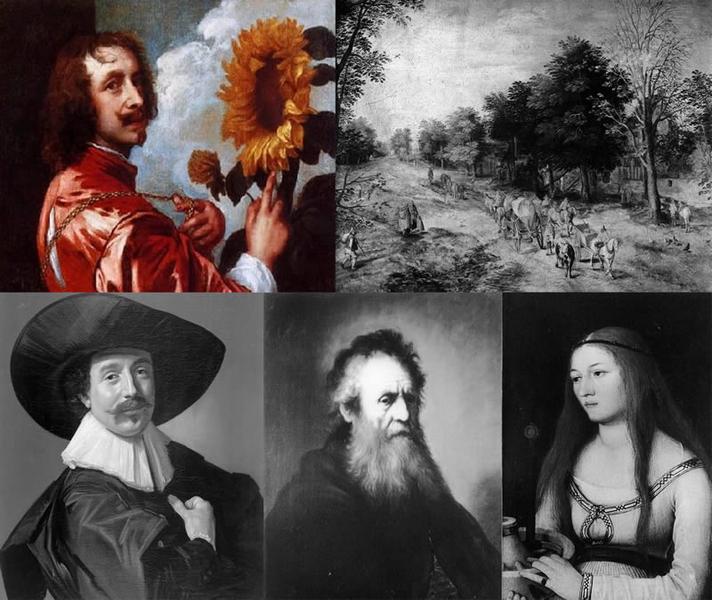 Die gestohlenen Gemälde von Schloss Friedenstein, Gotha / Bild: Pressemitteilung Stadt Gotha