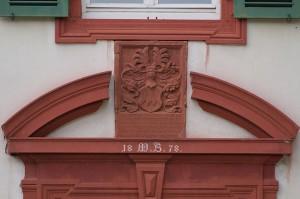 Wappen des Burggrafen Johann Brendel von Homburg von 1558, das 1885 im Ostflügel eingesetzt wurde / Foto: Wikipedia / Lumpeseggl / CC-BY-SA 3.0