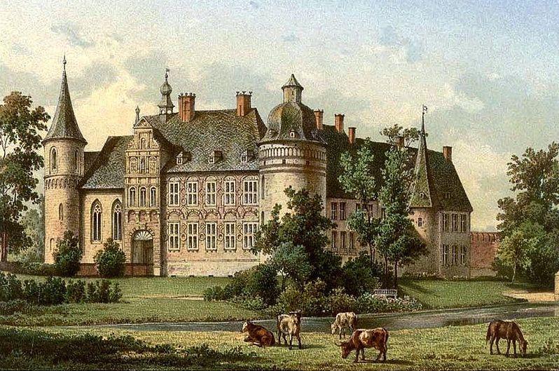 Haus Assen um 1860 / Bild: Sammlung Duncker / gemeinfrei