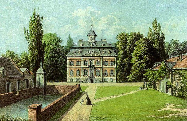 Schloss Arff auf einem Bild von 1860 - es sieht heute noch so aus / Bild: gemeinfrei/Sammlung Duncker