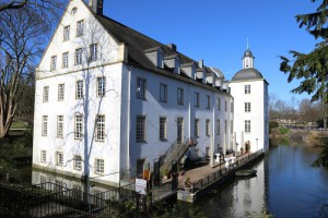 Die Rückseite von Schloss Borbeck