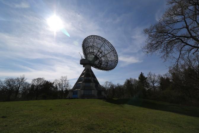 Das Teleskop ist weithin sichtbar und ein tolles Fotomotiv