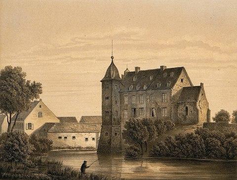 Wasserburg Kühlseggen um 1860 / Bild: Sammlung Duncker (gemeinfrei)