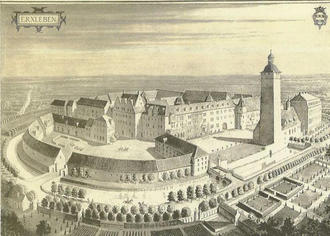 Schloss Erxleben um 1910 / gemeinfrei