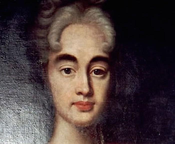 Das Gemälde der Gräfin Cosel in Haft zeigt eine attraktive Frau mit angegrautem Haar