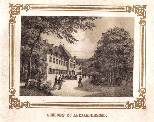Schloss Alexandersbad um 1850 / Foot: Gemeinfrei